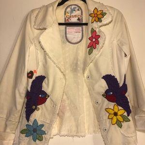 Beautiful flower stitched jacket.